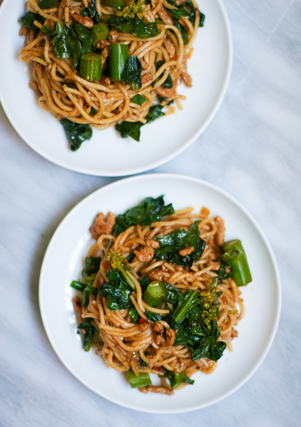 Noodles with Chinese Broccoli | ericajulson.com