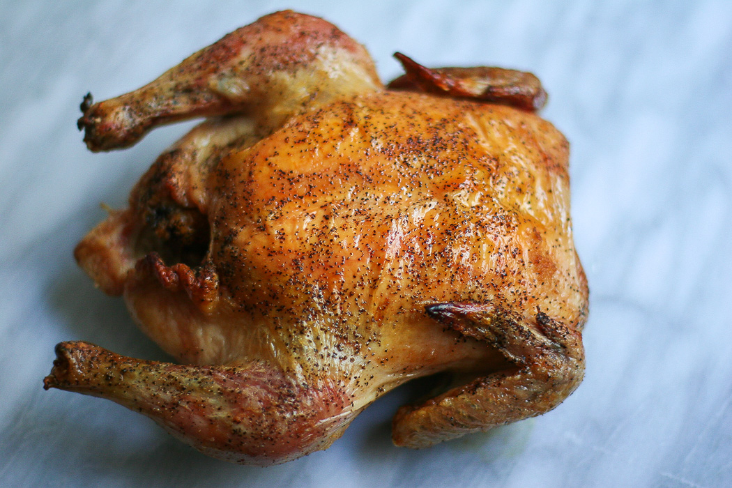 Classic Roasted Chicken with Salt and Pepper