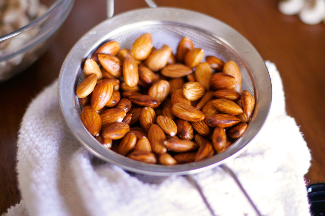 Soaked Almonds Strained | ericajulson.com