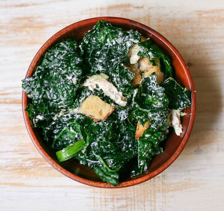 Chicken Kale Caesar Salad | ericajulson.com