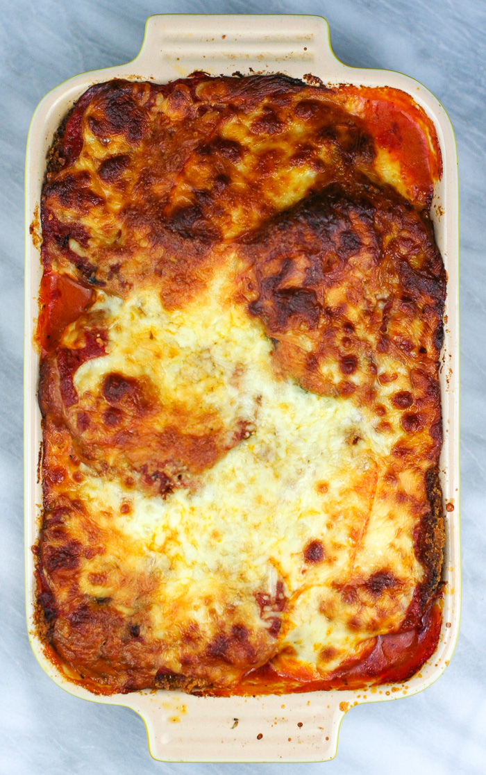 Warm and Cheesy Eggplant Parmesan