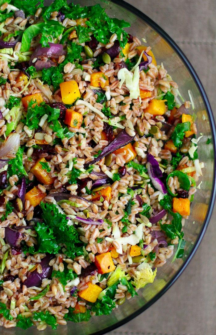 Farro Salad with Butternut Squash - Erica Julson