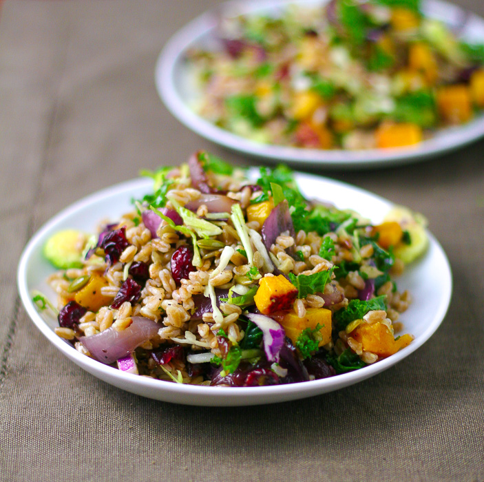 Farro Salad with Butternut Squash