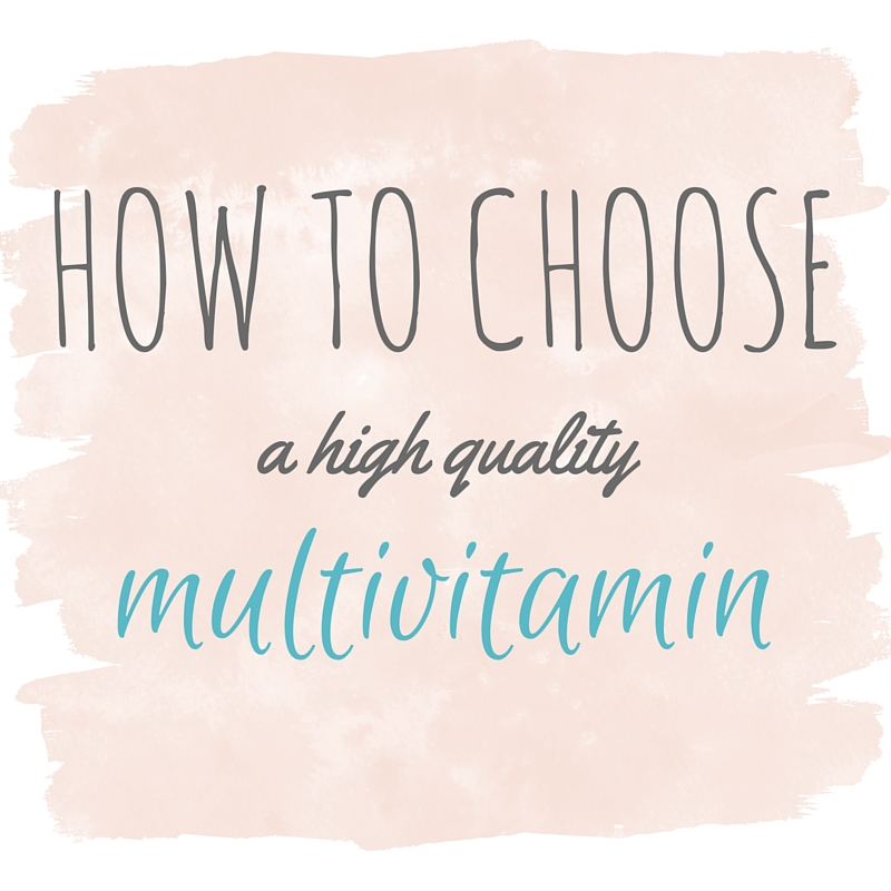 How to choose a high quality vitamin
