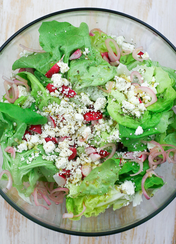 Butter Lettuce Salad with Radishes and Feta
