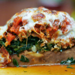 Turkey and Spinach Stuffed Portobello Mushrooms