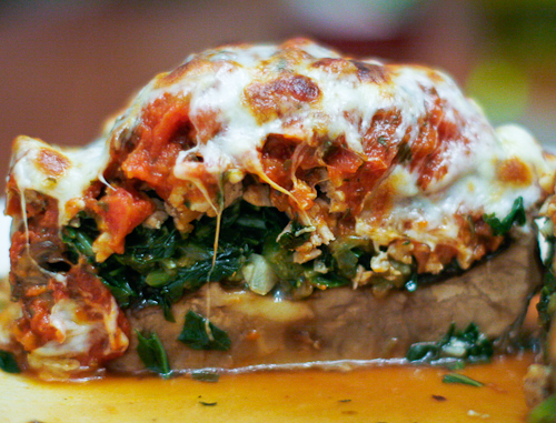 Turkey Stuffed Portobello Mushrooms
