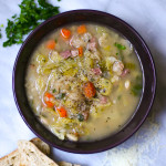 Ham and Butter Bean Soup with Savoy Cabbage