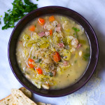 Ham Butter Bean Soup with Savoy Cabbage
