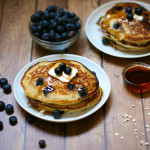Blueberry Oatmeal Buttermilk Pancakes