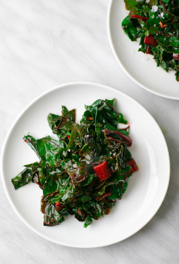 Sauteed Swiss Chard with Garlic and Lemon