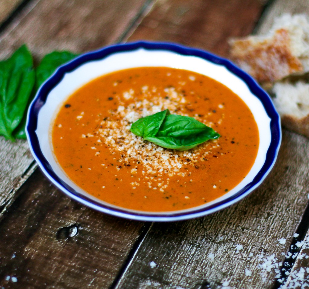 Slow Roasted Tomato Soup by Dietitian Erica Julson