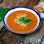 Slow Roasted Tomato Basil Soup