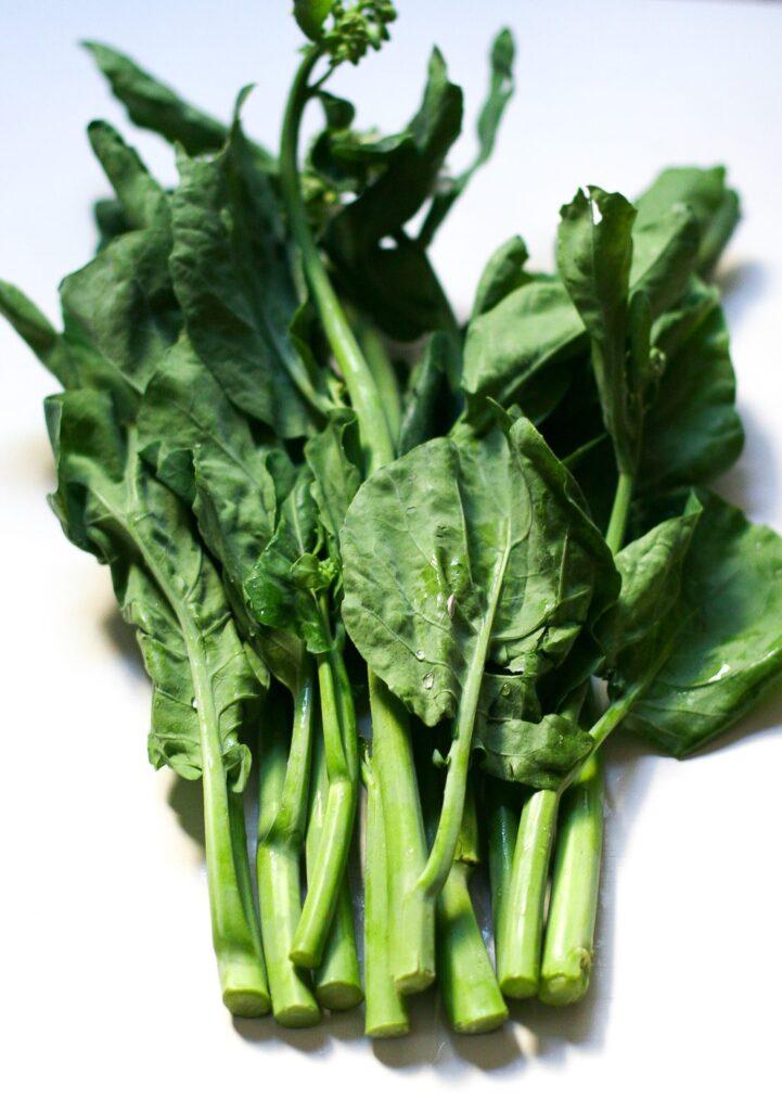 Chinese Broccoli Closeup Shot