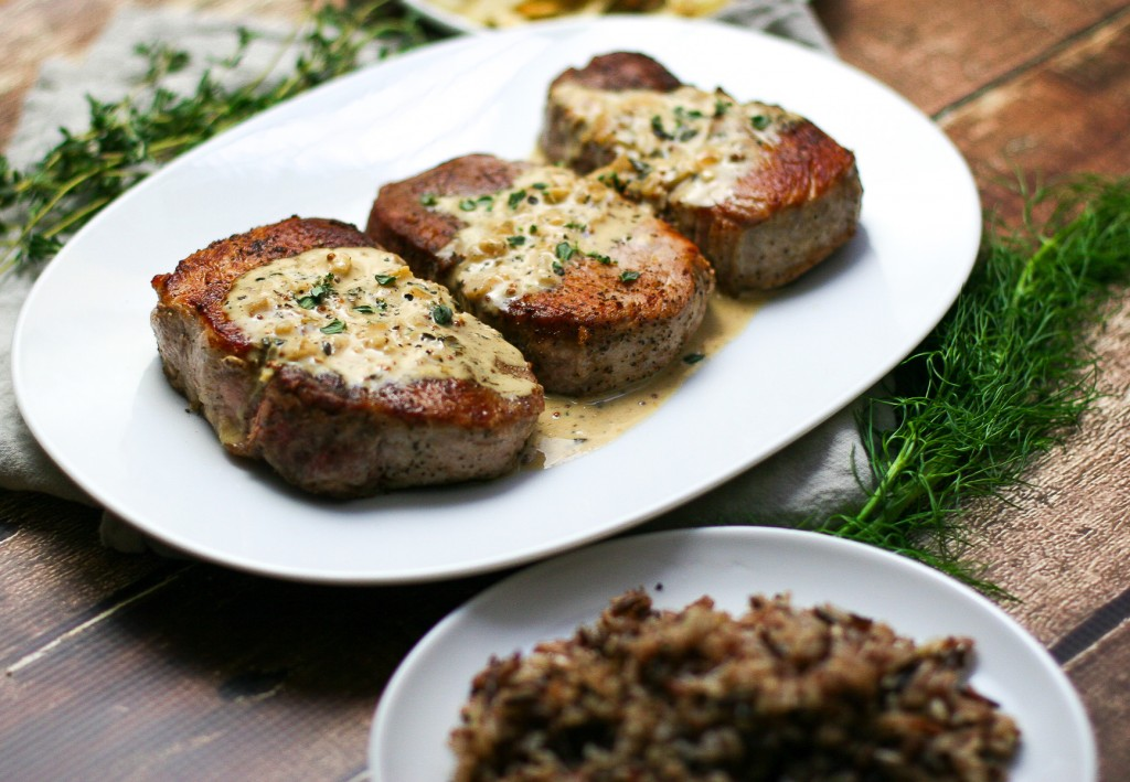 Seared Pork Chops with Mustard Pan Sauce - Erica Julson