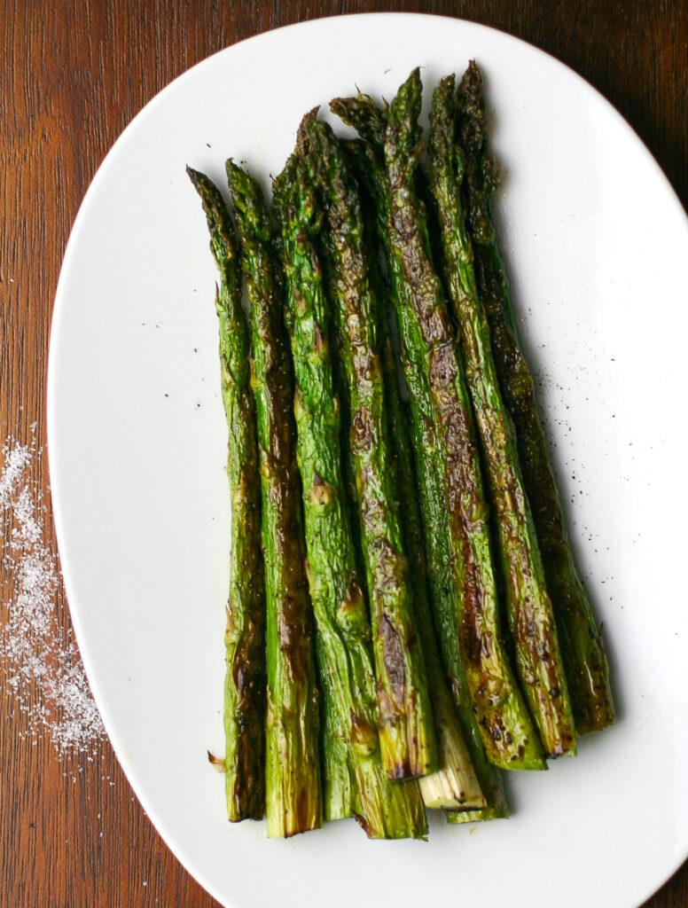 Oven Roasted Asparagus Overhead Shot