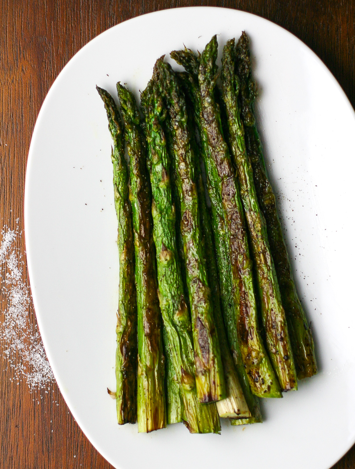 ... nothing better than crispy salty oven roasted asparagus tips
