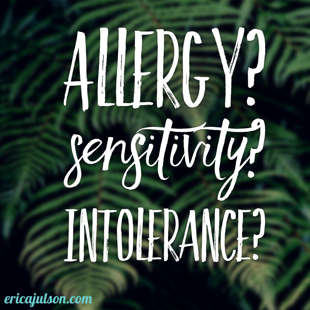 allergy sensitivity intolerance