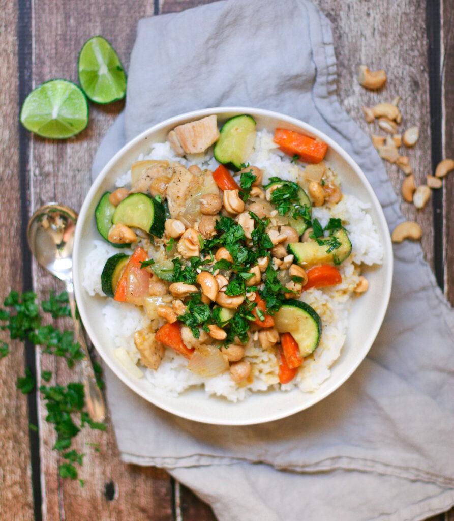 Green Cashew Chicken Curry