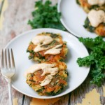 Potato Kale Cakes with Chipotle Cream Sauce