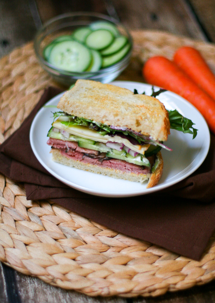 Roast Beef Sandwiches with Horseradish Mayo