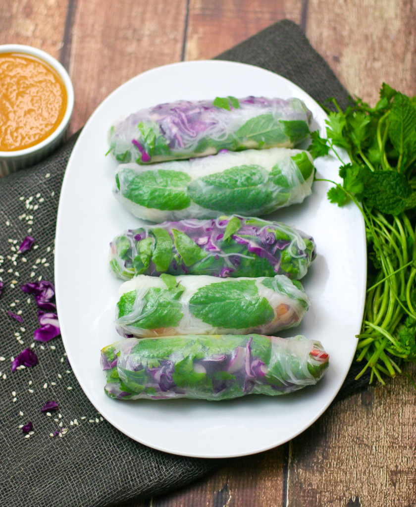 Tofu Summer Rolls with Peanut Dipping Sauce-2