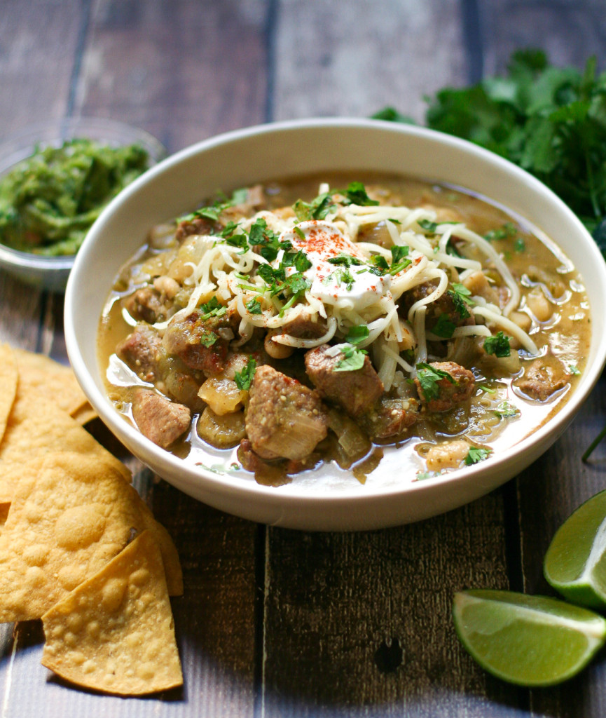 Pork Chile Verde with Lima Beans