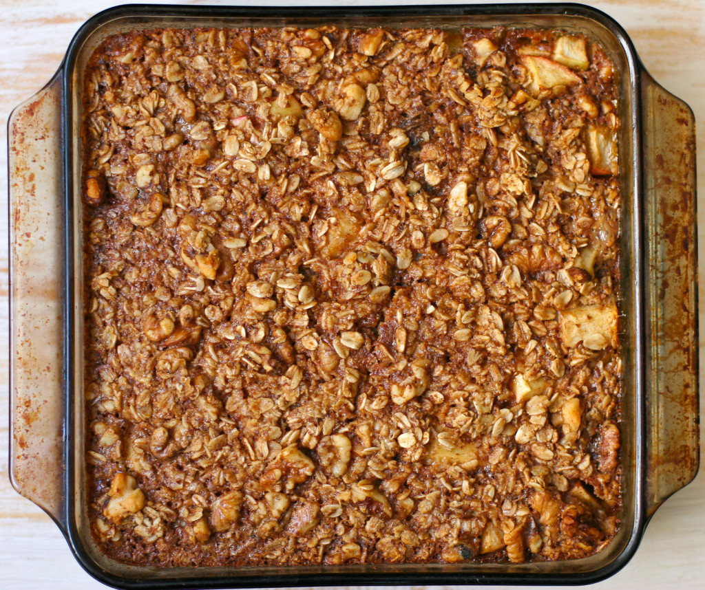Apple Cinnamon Baked Oatmeal Fresh Out of the Oven