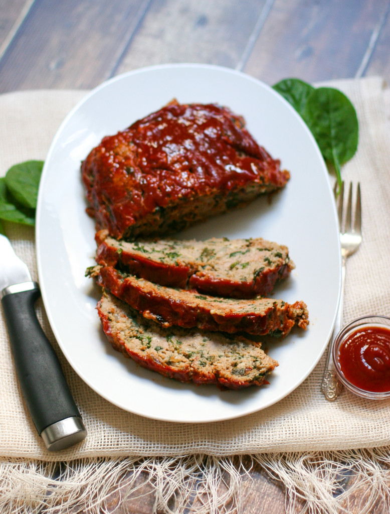 Kale and Spinach Turkey Meatloaf - a healthy twist on an American classic!
