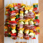 Steak and Vegetable Skewers with Chimichurri