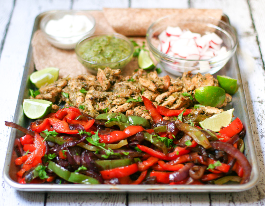 Verde Chicken Fajitas