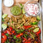 Salsa Verde Chicken Fajitas