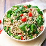 Barley Salad with Feta and Orange Shallot Vinaigrette