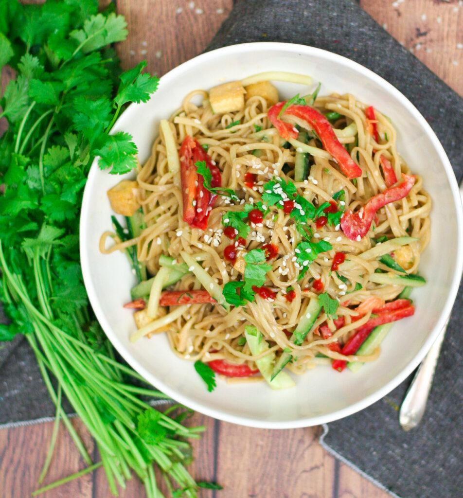 Chilled Peanut Noodle Salad with Crispy Tofu-11
