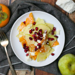 Shaved Persimmon and Fuji Apple Salad with Honey Lime Dressing