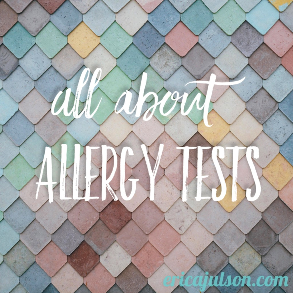 all about allergy tests