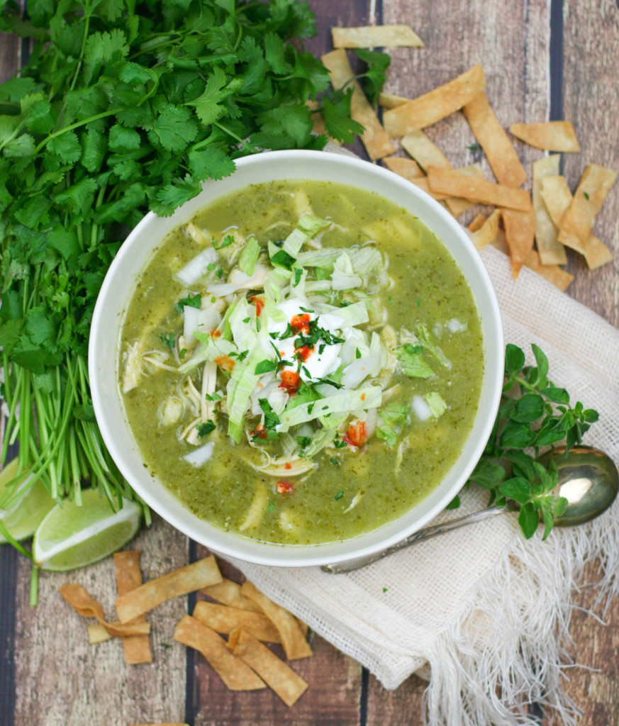 Posole Verde with Chicken and Hominy