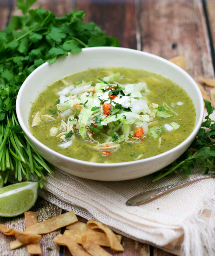 Green Posole Verde with Chicken