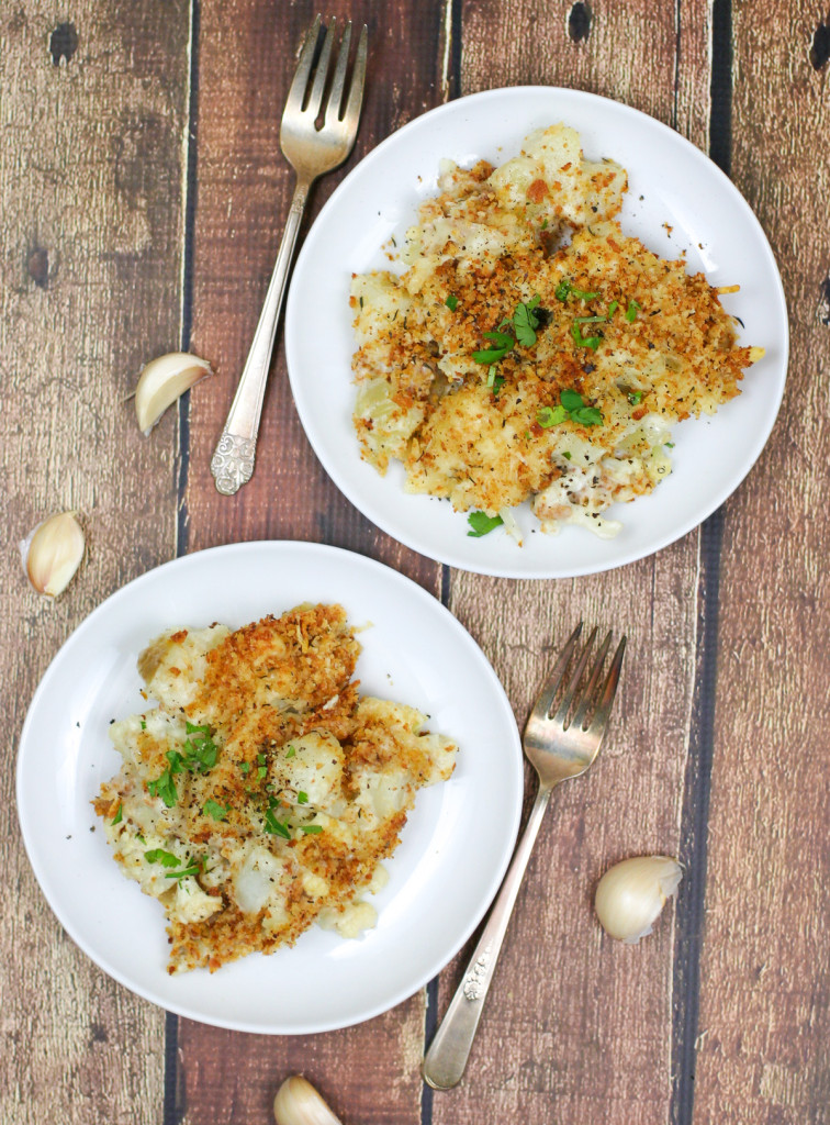 Baked Potato and Cauliflower Au Gratin