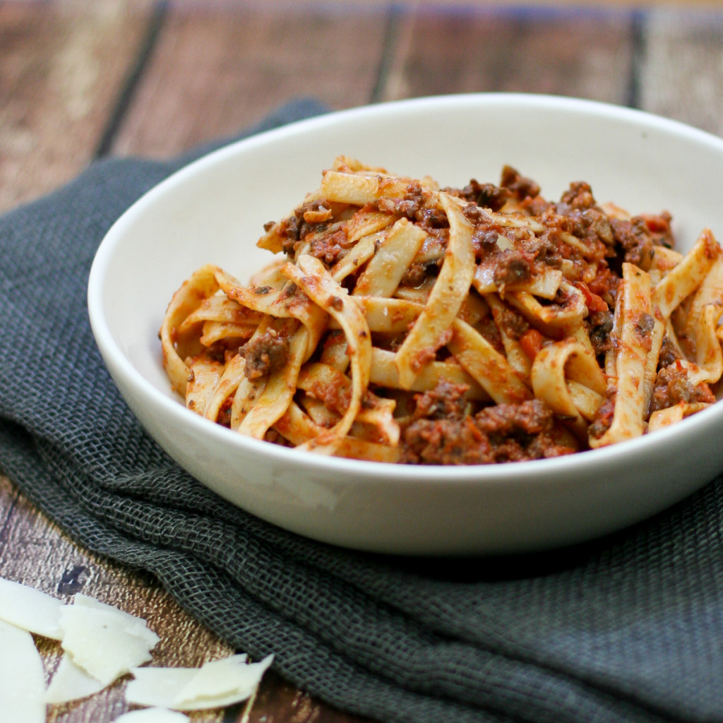 Weeknight Bolognese with Fettuccine