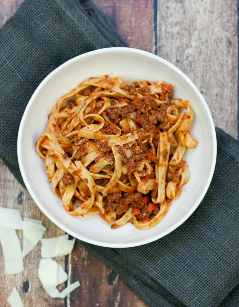 Easy Weeknight Bolognese with Fettuccine