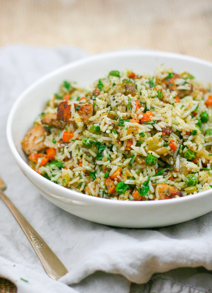 Easy Herbed Chicken and Rice-3