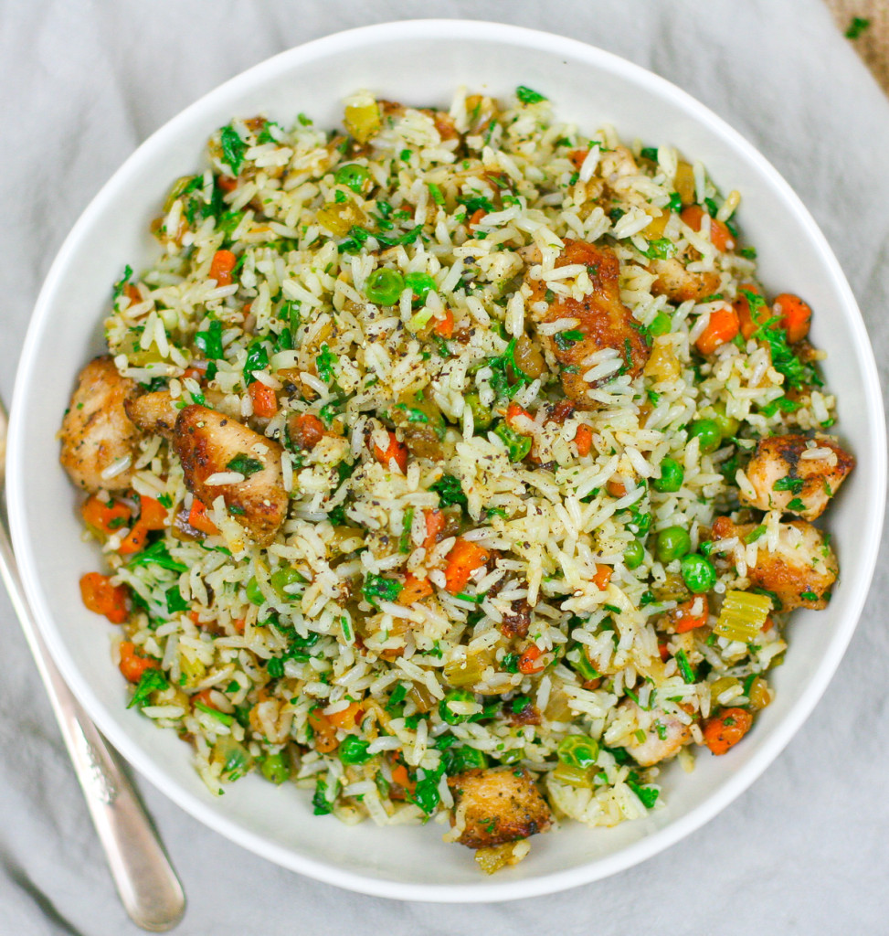 Easy Herbed Chicken and Rice with Fresh Herbs