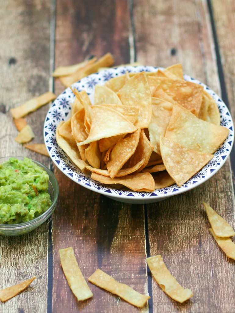 Homemade Tortilla Chips - Perfect for serving with guacamole!