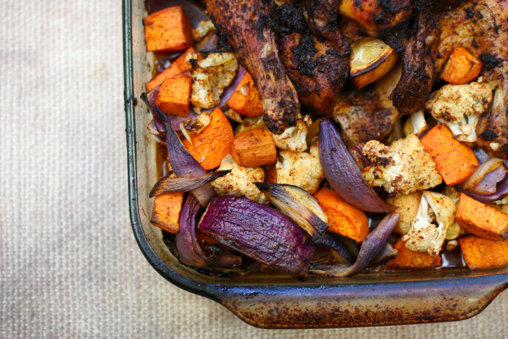 Moroccan Roasted Chicken and Vegetables-3