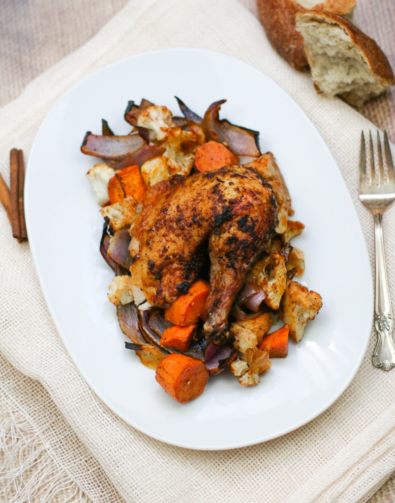 Moroccan Roasted Chicken and Vegetables-4