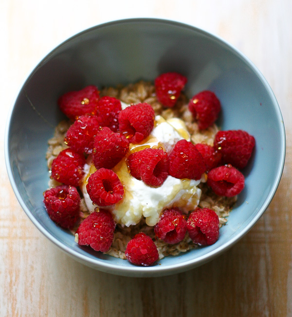 Raspberry Greek Yogurt Oatmeal. One of my favorite weekday breakfast recipes.