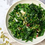 Kale Salad with Cranberries and Pepitas