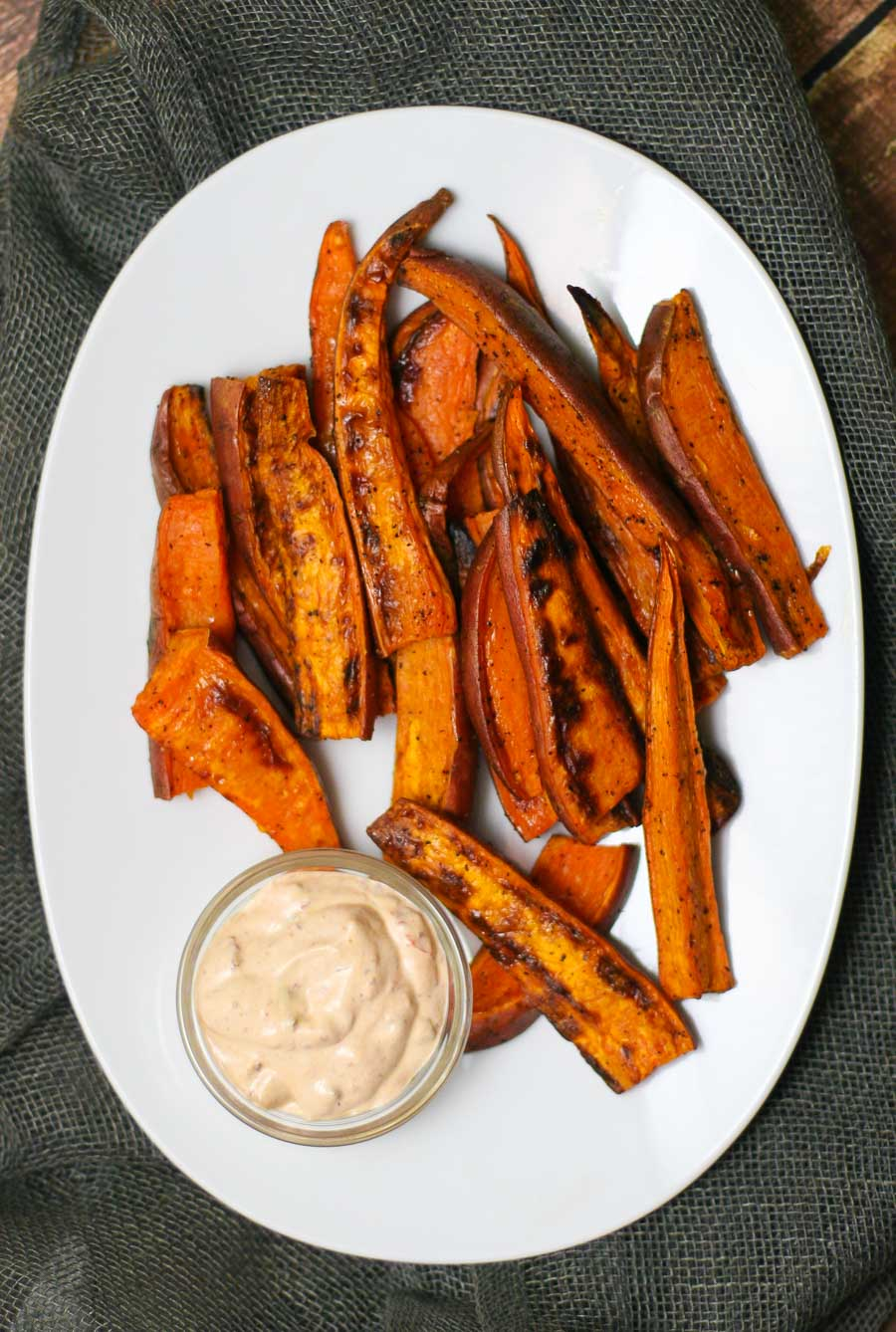Baked Sweet Potato Wedges With Chipotle Aioli