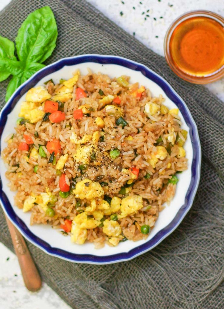 Easy Egg Fried Rice - a vegetarian side ready in under 30 minutes